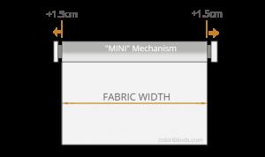 Roller Blinds MINI Fabric Width