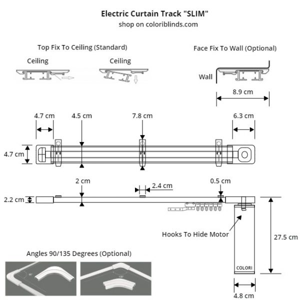 Dimensions_SLIM_COLORI_Electric_Curtain_Track_Kit
